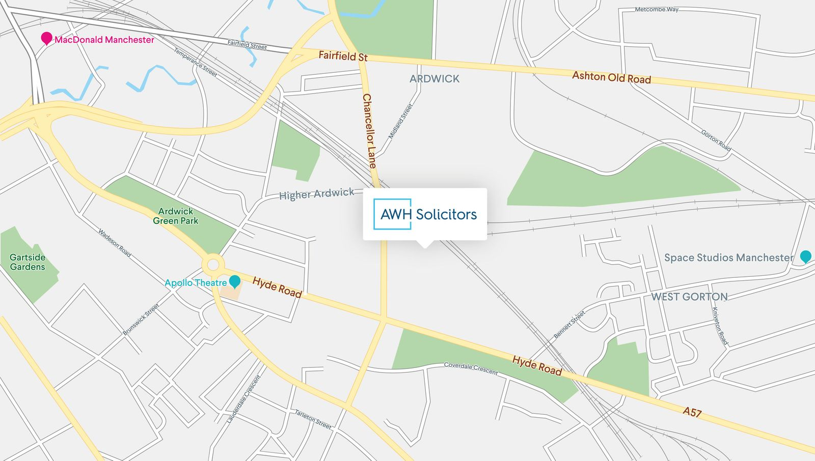 AWH Solicitors Manchester directions